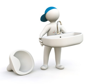 3D Man with Basin