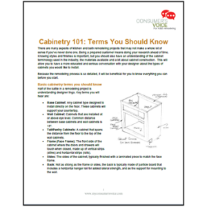 Cabinetry 101 – Terms You Should Know